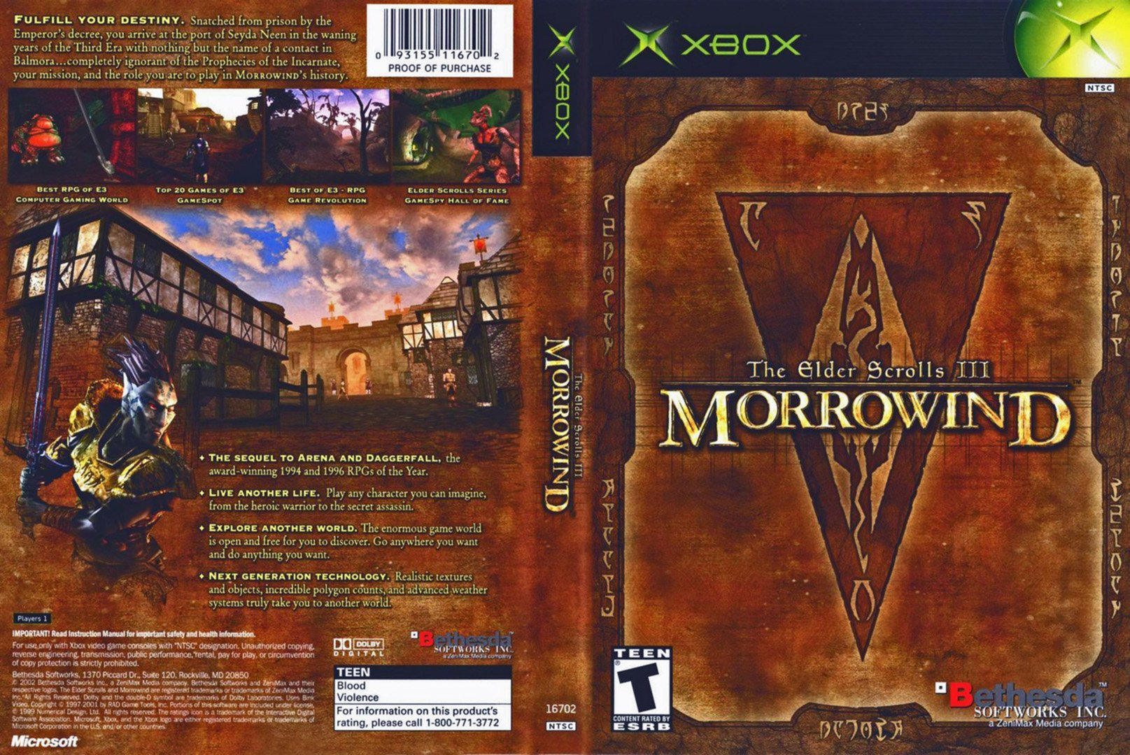 Morrowind original Xbox backward compatibility