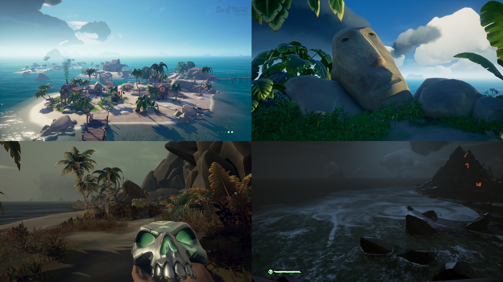 Sea of Thieves four areas