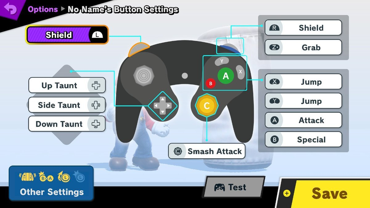 super smash bros gamecube controller controls
