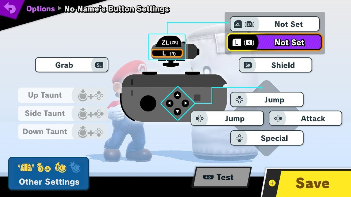 super smash bros sideways joy con controls