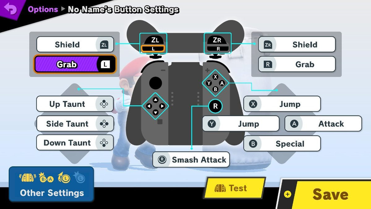 super smash bros joy con controls