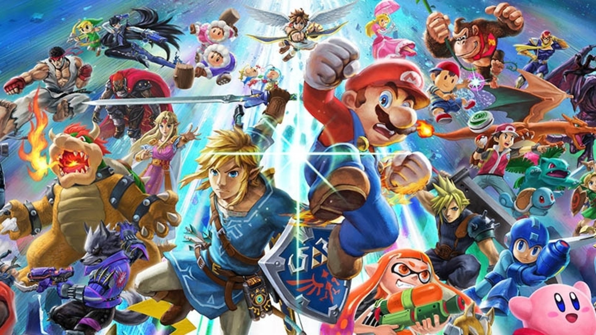 Super Smash Bros Ultimate Character Roster Art