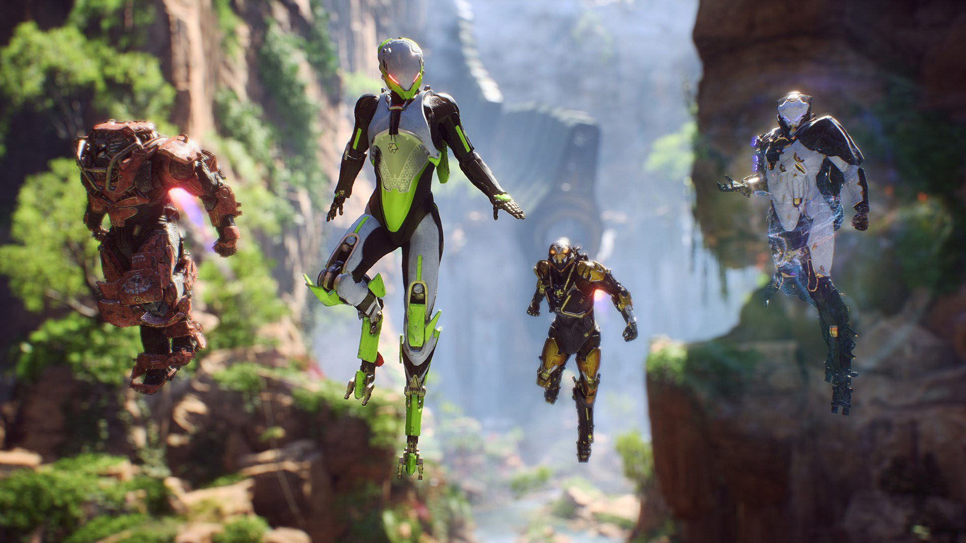 Anthem javelin suits in flight