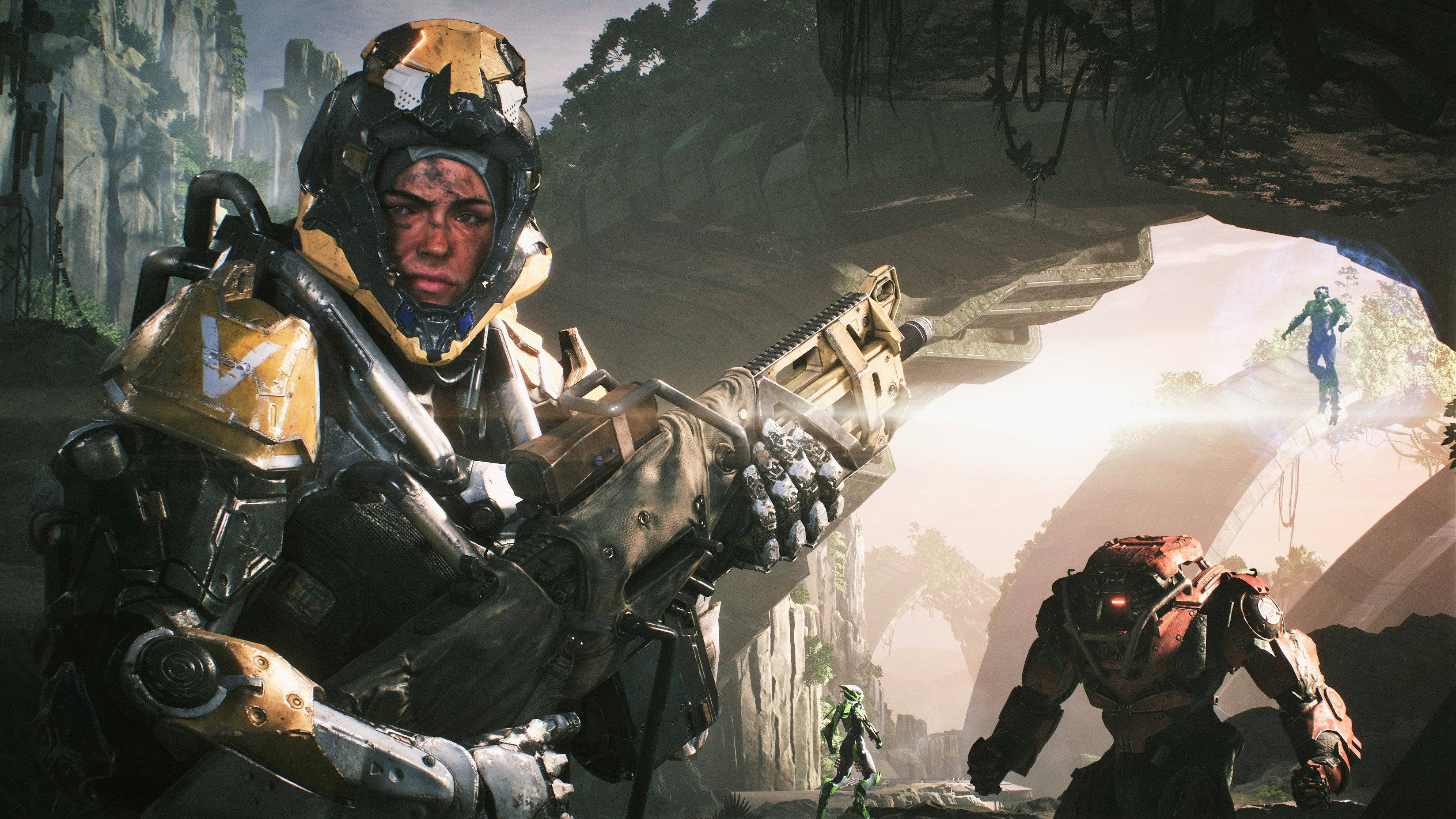 Anthem close-up on weapons and javelin