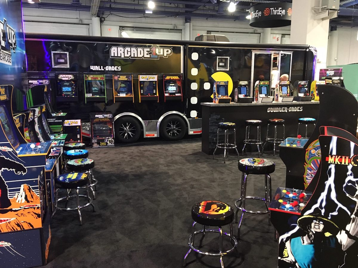 Retro gaming had a big presence at CES 2019, and Arcade1Up had a solid lineup for gamers.