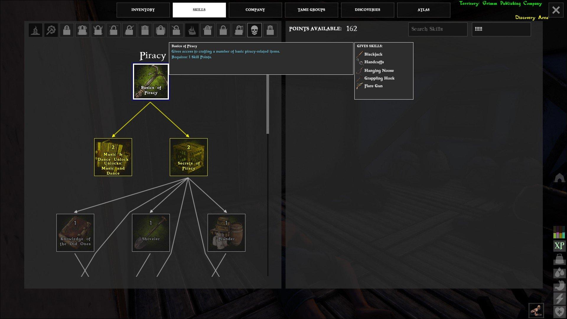Atlas unlock Basics of Piracy Skill