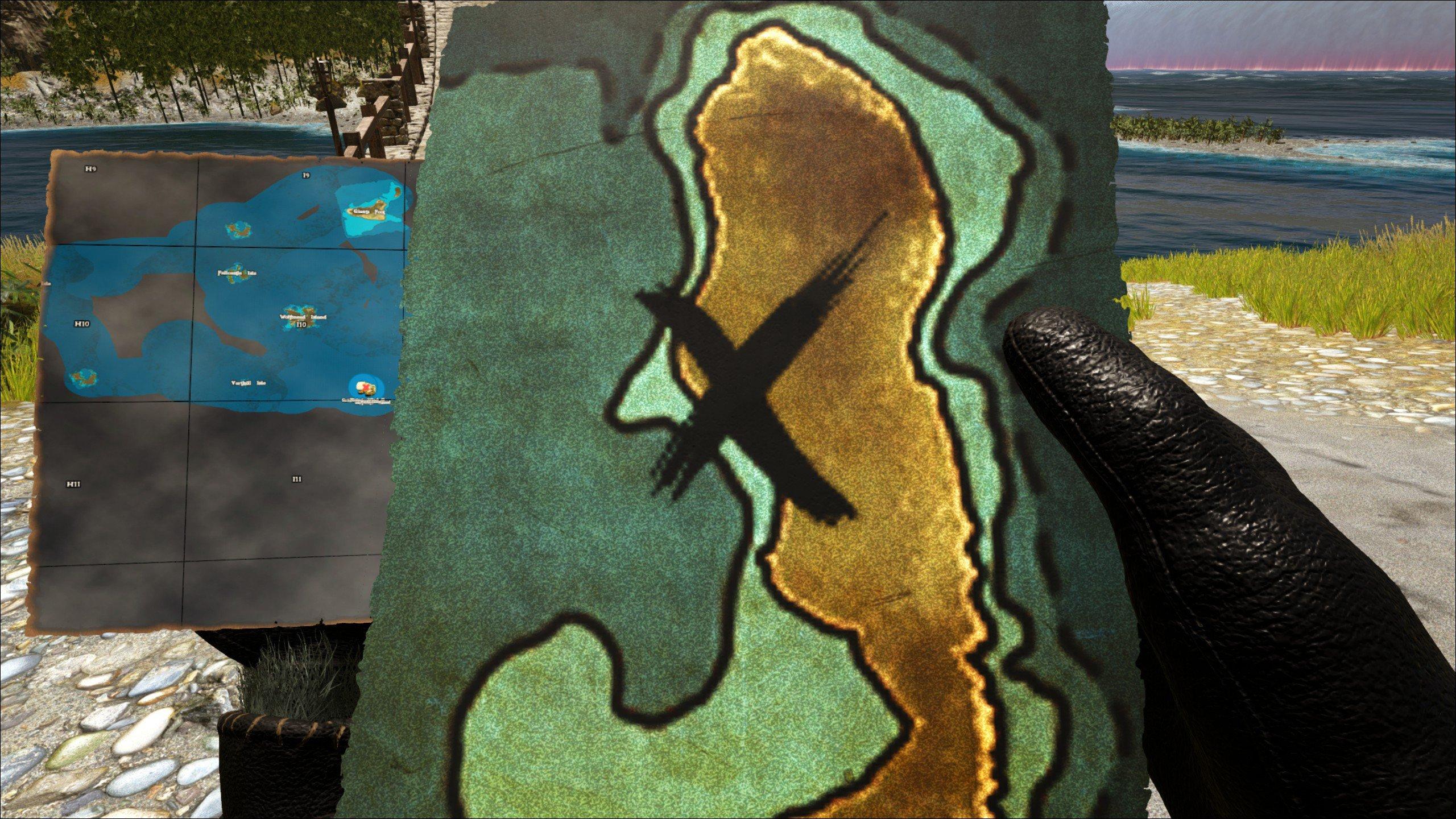 Atlas treasure map overview