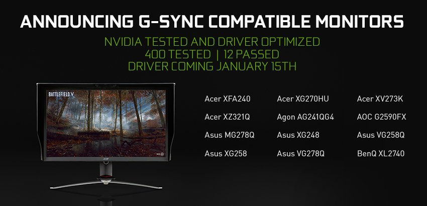 NVIDIA GPUs to make use of adaptive sync on FreeSync