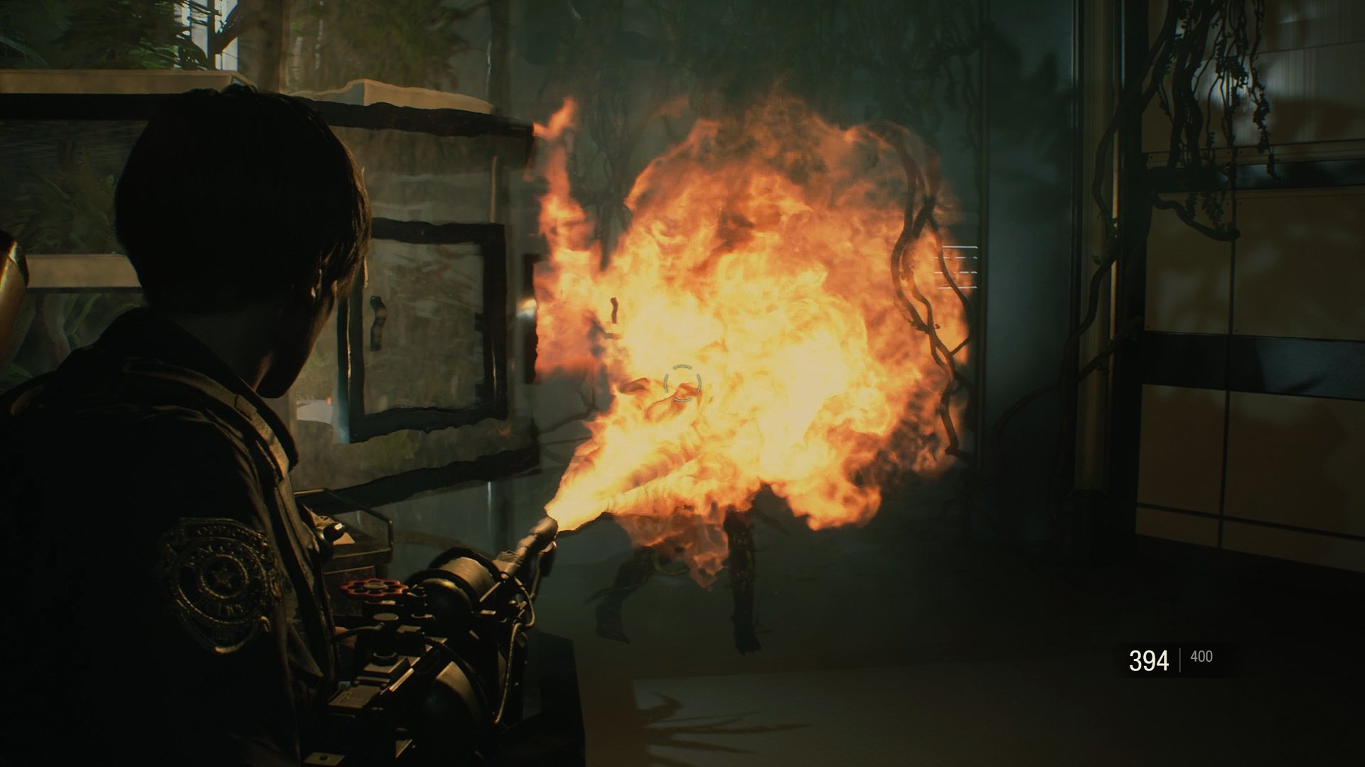 Resident Evil zombie Chemical Flamethrower
