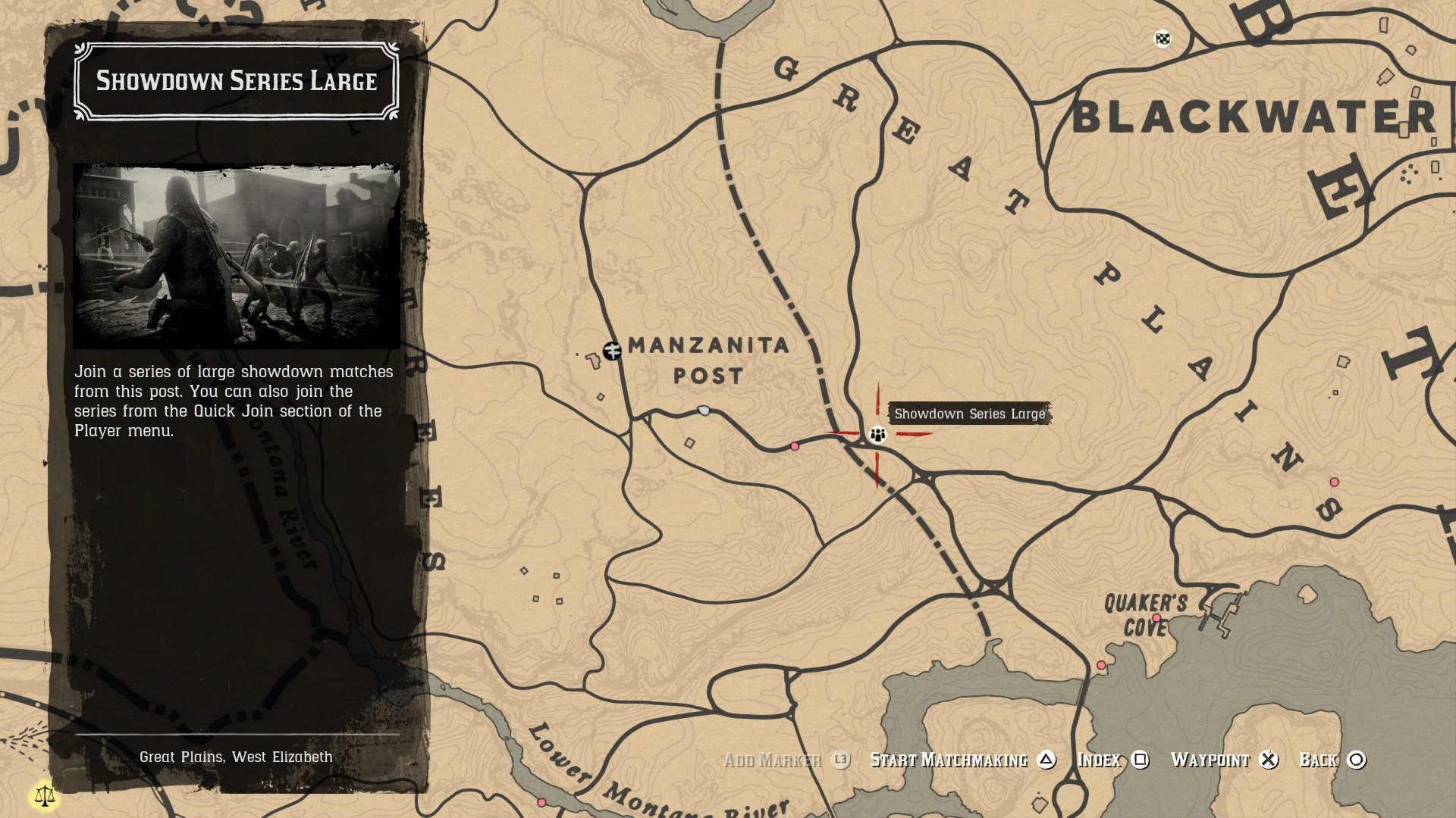 Red Dead Online playlists on map