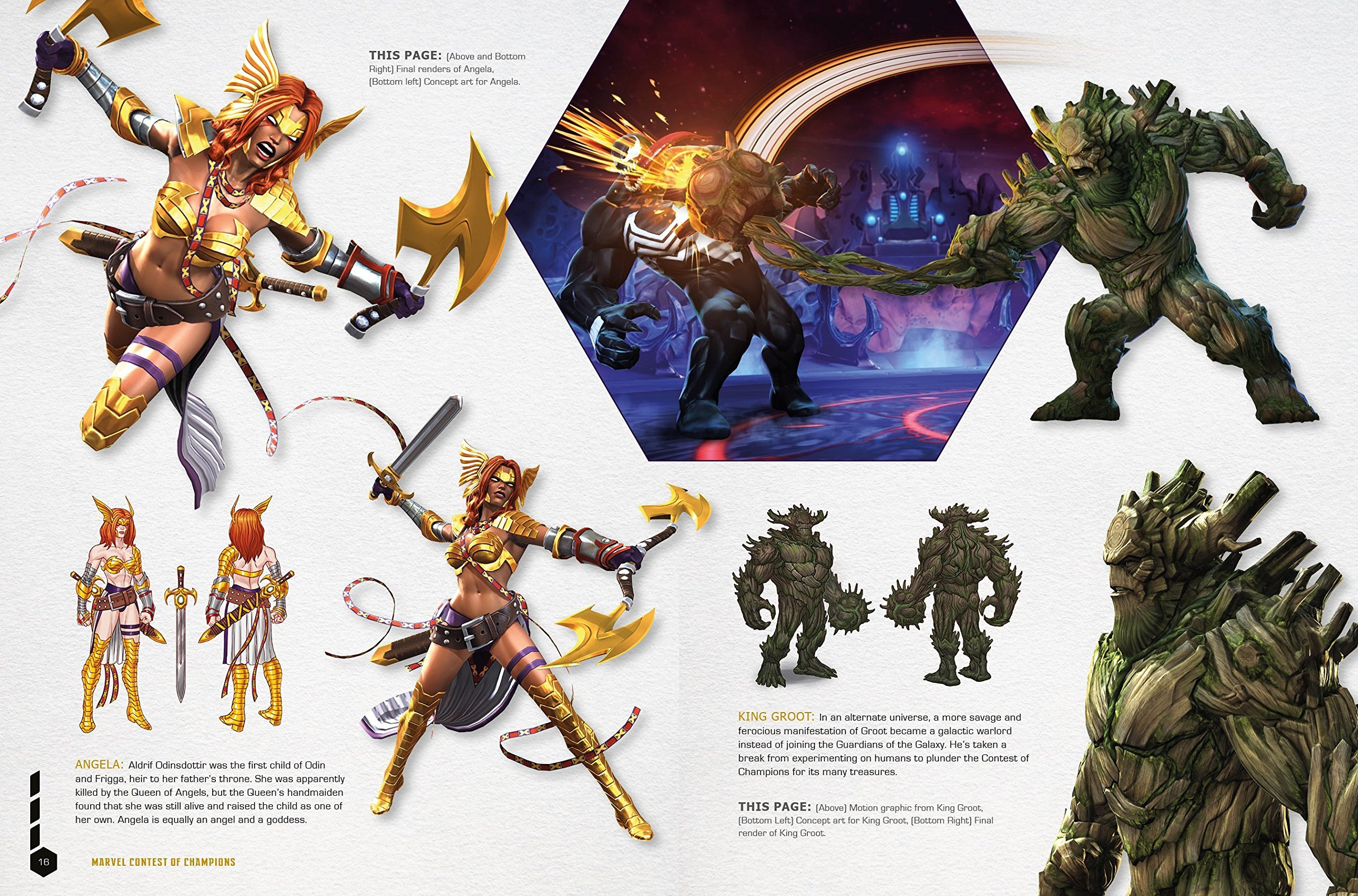 Marvel Contest of Champions Art Book Page Sample