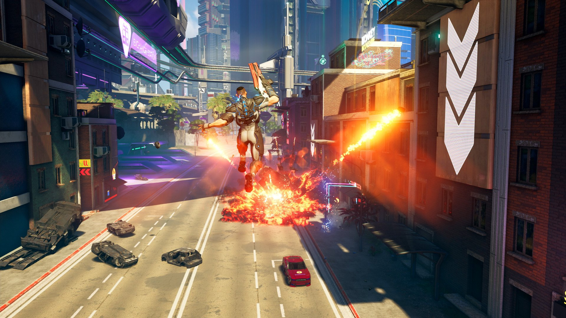 Crackdown three action screenshot