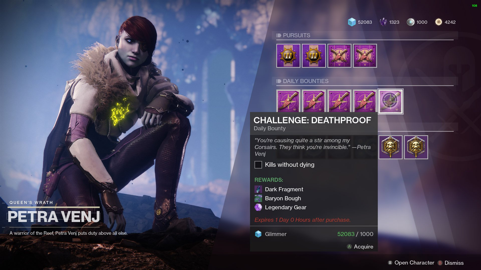 Challenge Deathproof Destiny 2