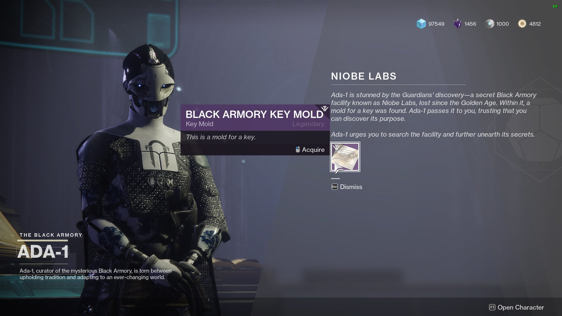 Destiny 2 Black Armory Key Mold