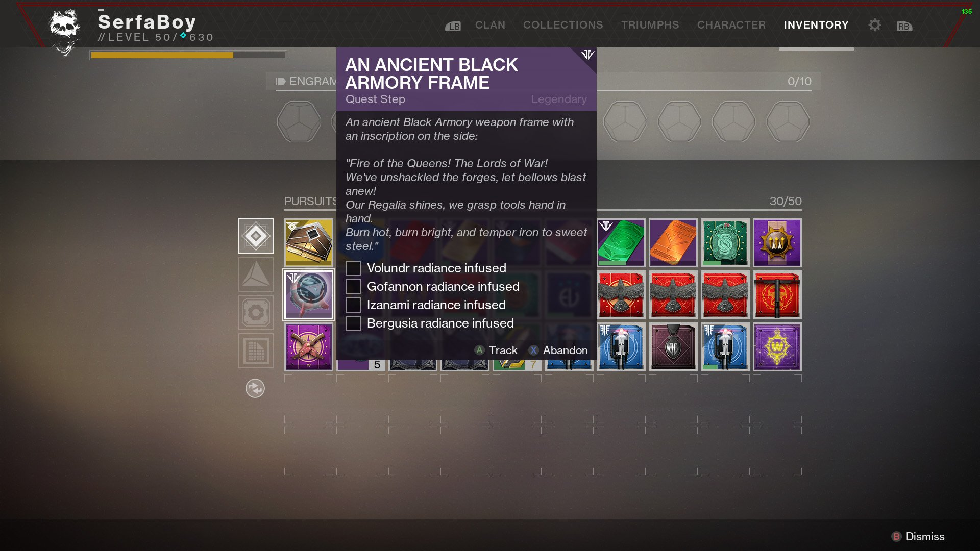 Destiny 2 An Ancient Black Armory Frame