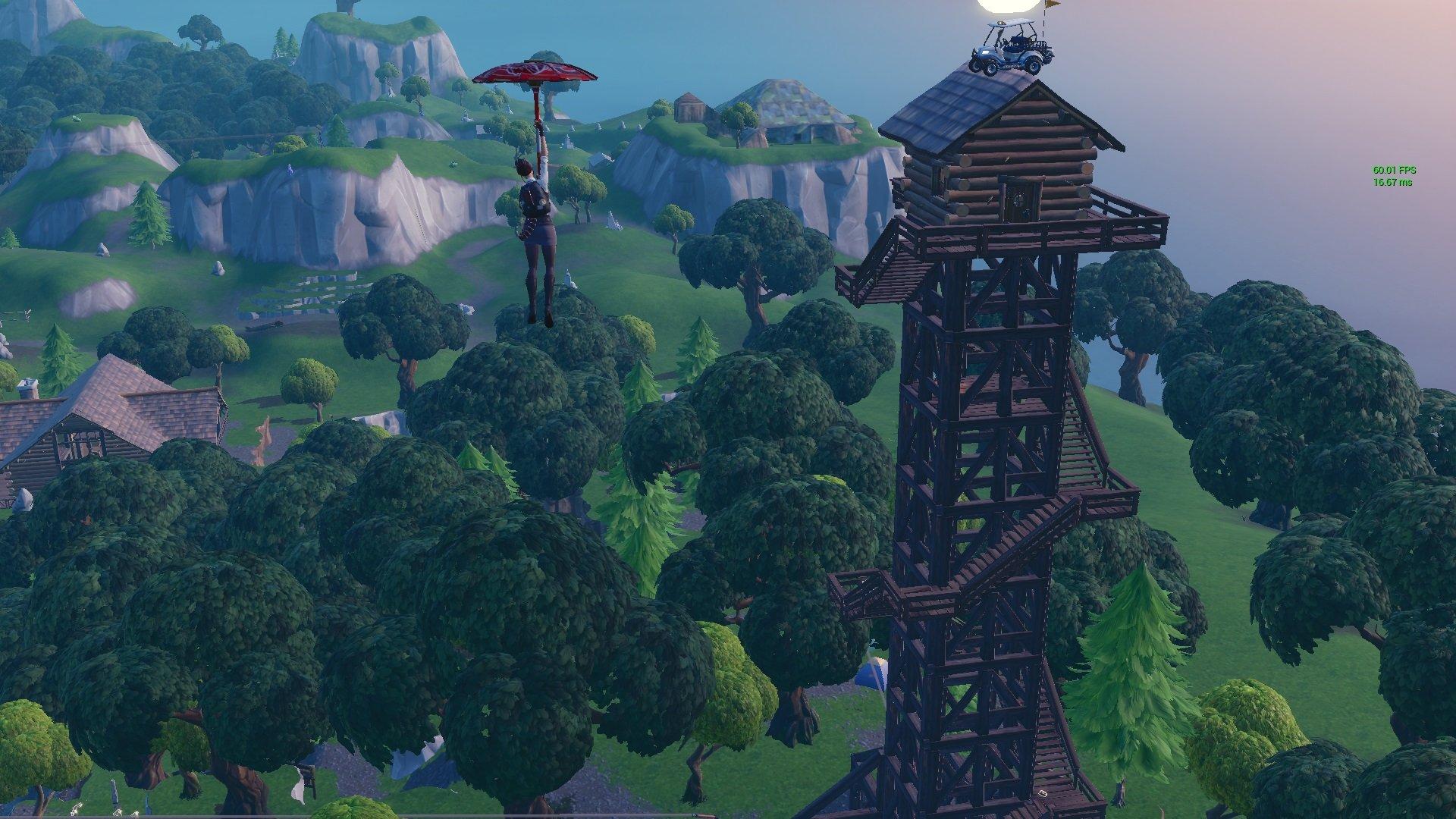 where is the ranger tower in fortnite