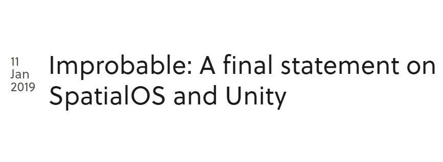 spatialos improbable unity epic games development gaming