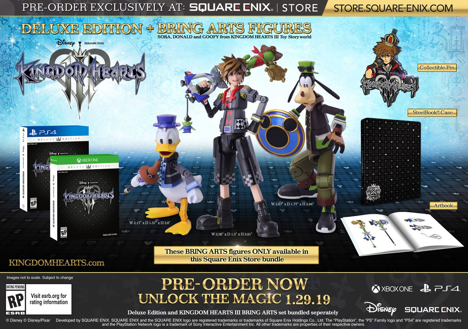 Kingdom Hearts 3 Deluxe Edition with Bring Arts figures