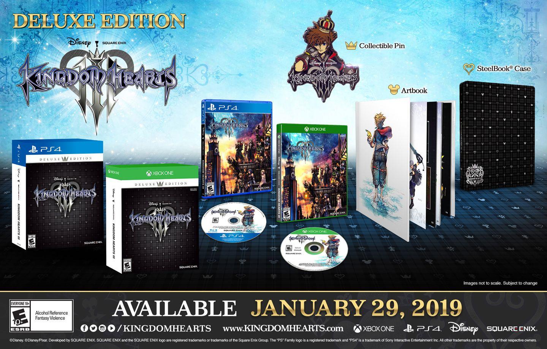 Kingdom Hearts 3 Deluxe Edition pre-order bonuses
