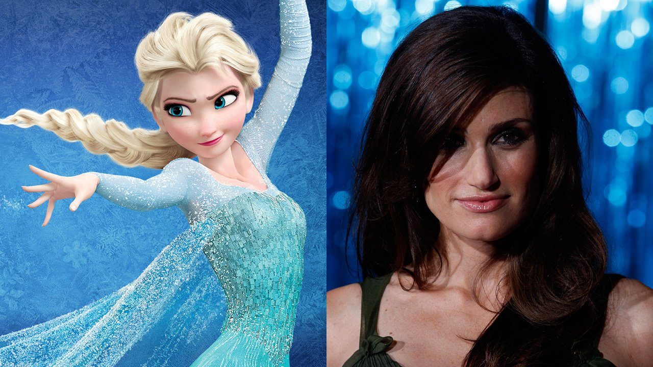Idina Menzel voices Elsa