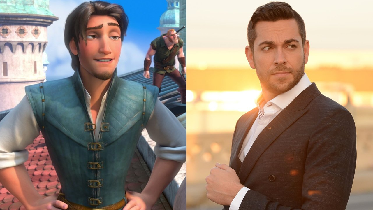 Zachary Levi voices Flynn Rider