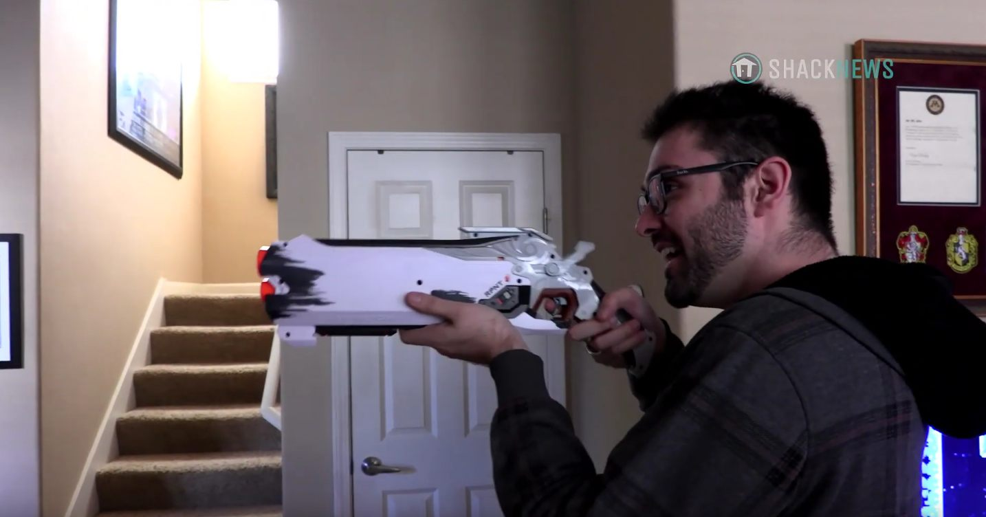 nerf rival precision blaster overwatch blizzard shacknews unboxing