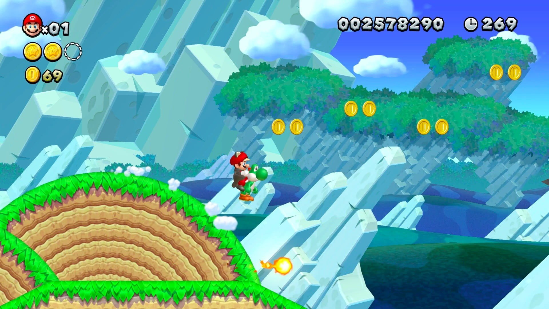 New Super Mario Bros. U Deluxe Action Screenshot