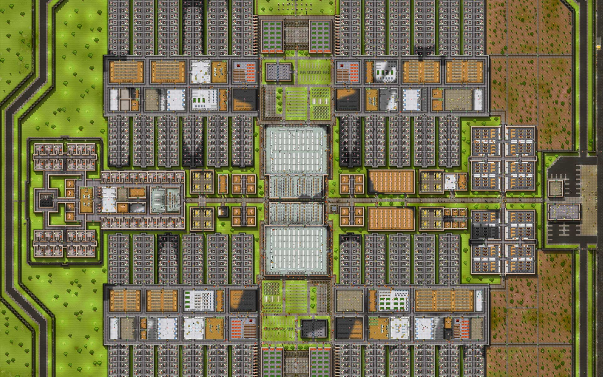 Prison Architect prison overview