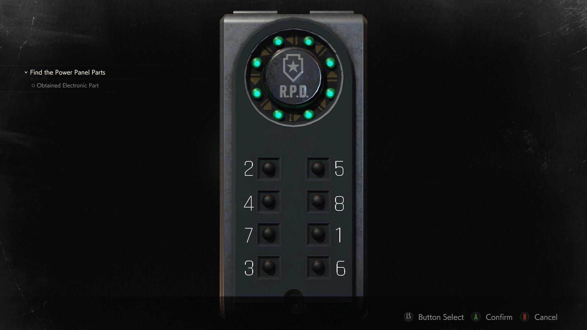 Resident Evil 2 portable safe Linen Room Leon