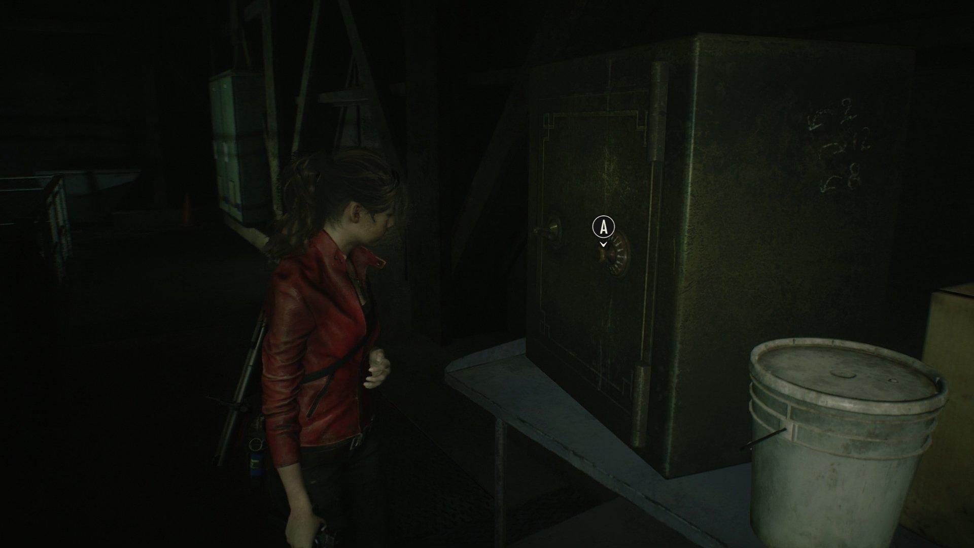 Resident Evil 2 Treatment Pool Room safe