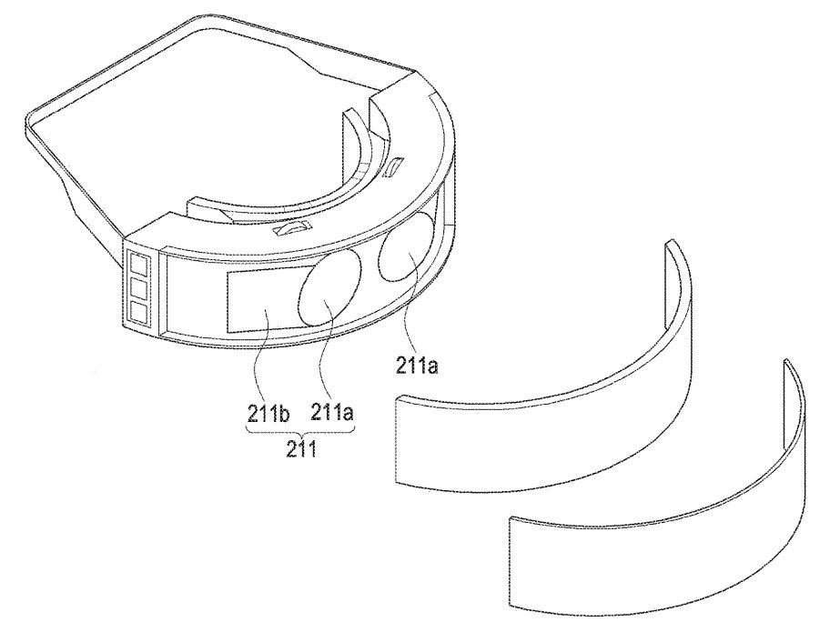 samsung vr virtual reality hmd 180 degree field of view two lenses