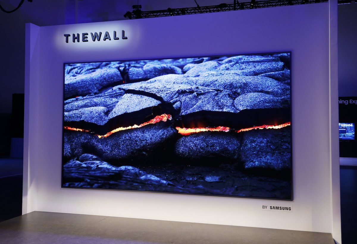 Samsung drew tons of attention at CES 2019 with their modular MicroLED wall display.