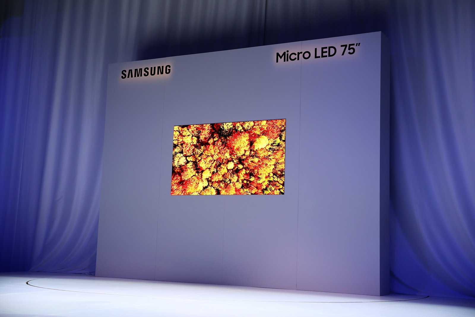 Samsung 75-inch modular micro LED display