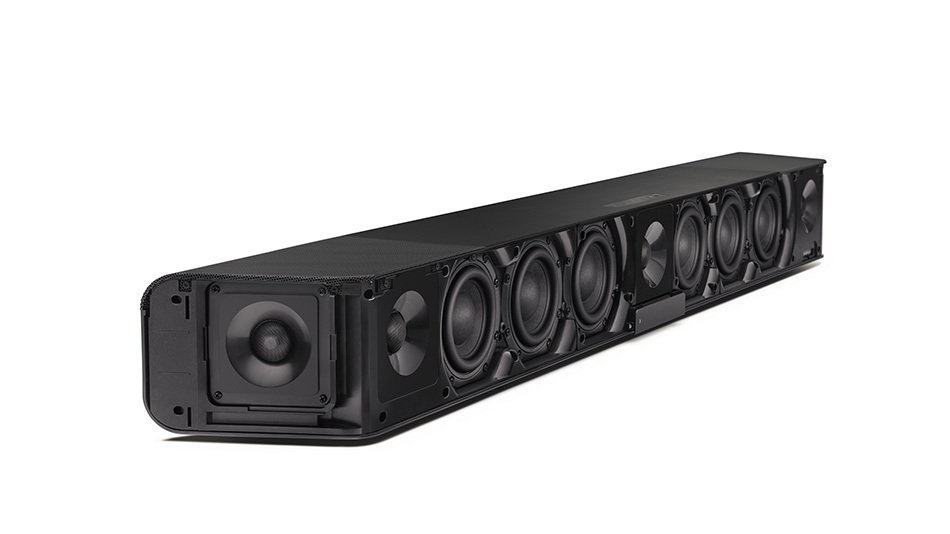 The Sennheiser Ambeo sound bar has more drivers than most complete surround sound systems