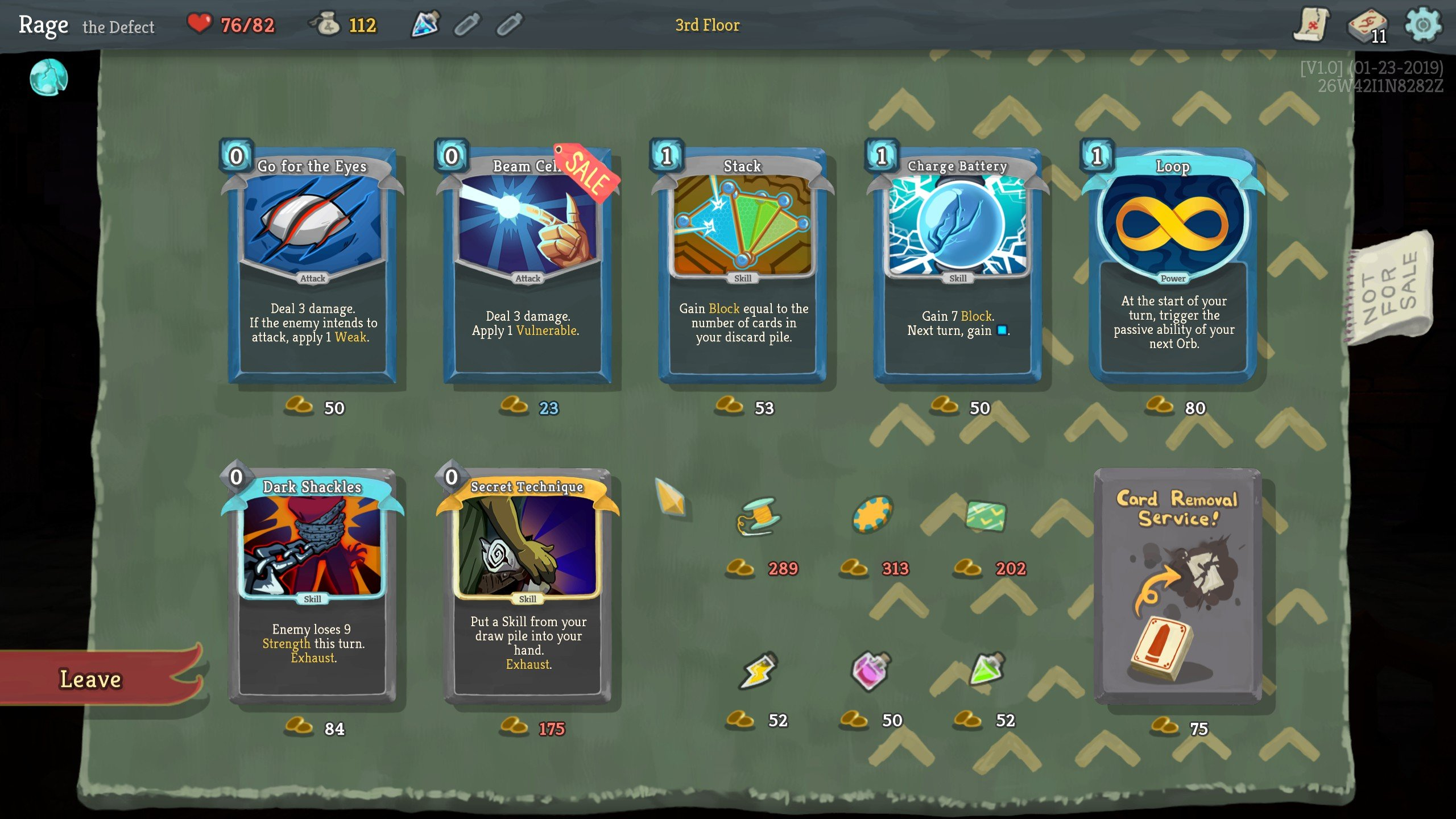 Slay the Spire buying cards from the merchant