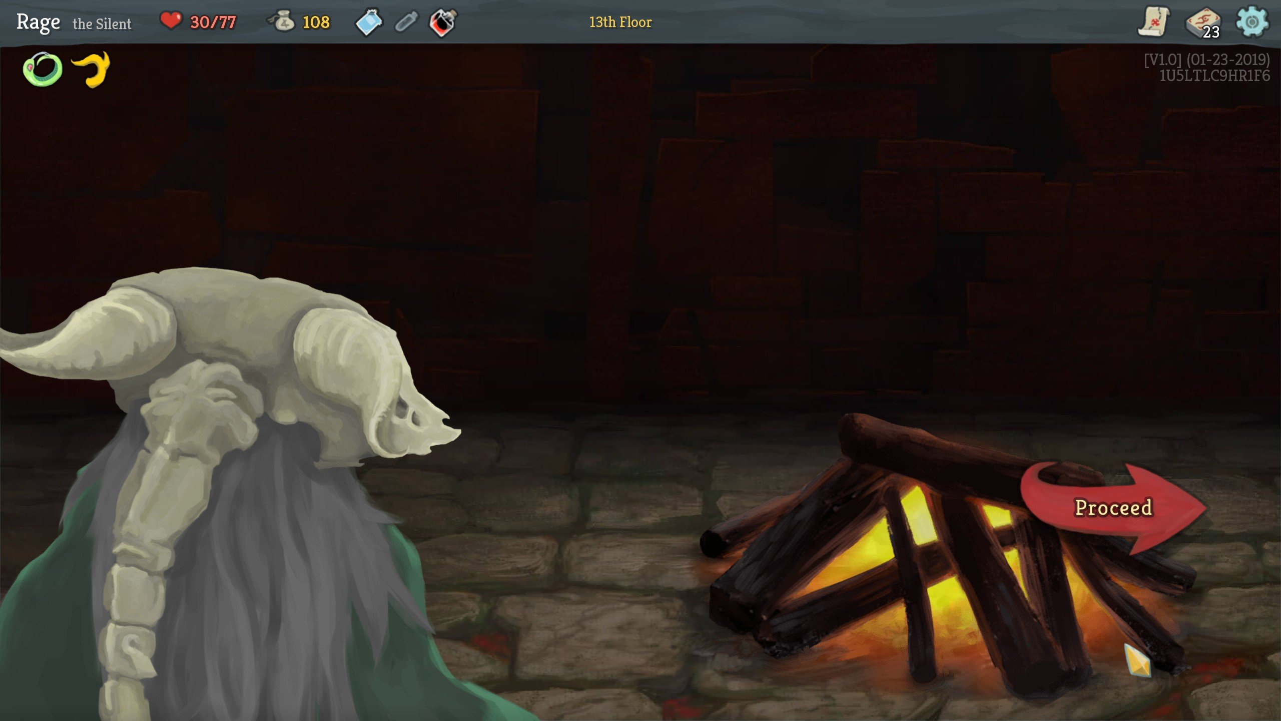 Slay the Spire resting at campfire