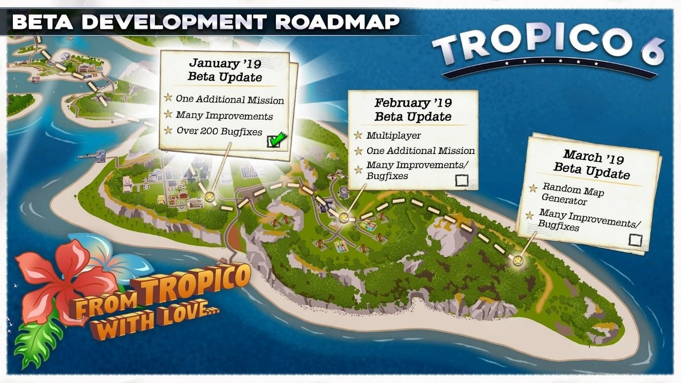 tropico 6 management roadmap closed beta kalypso games