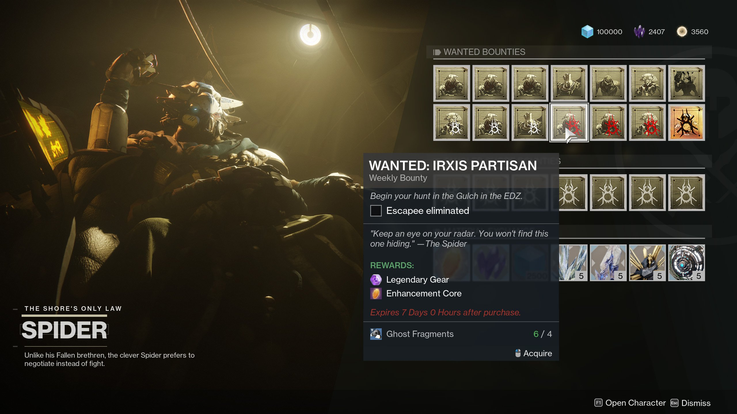 Wanted: Irxis Partisan - Destiny 2