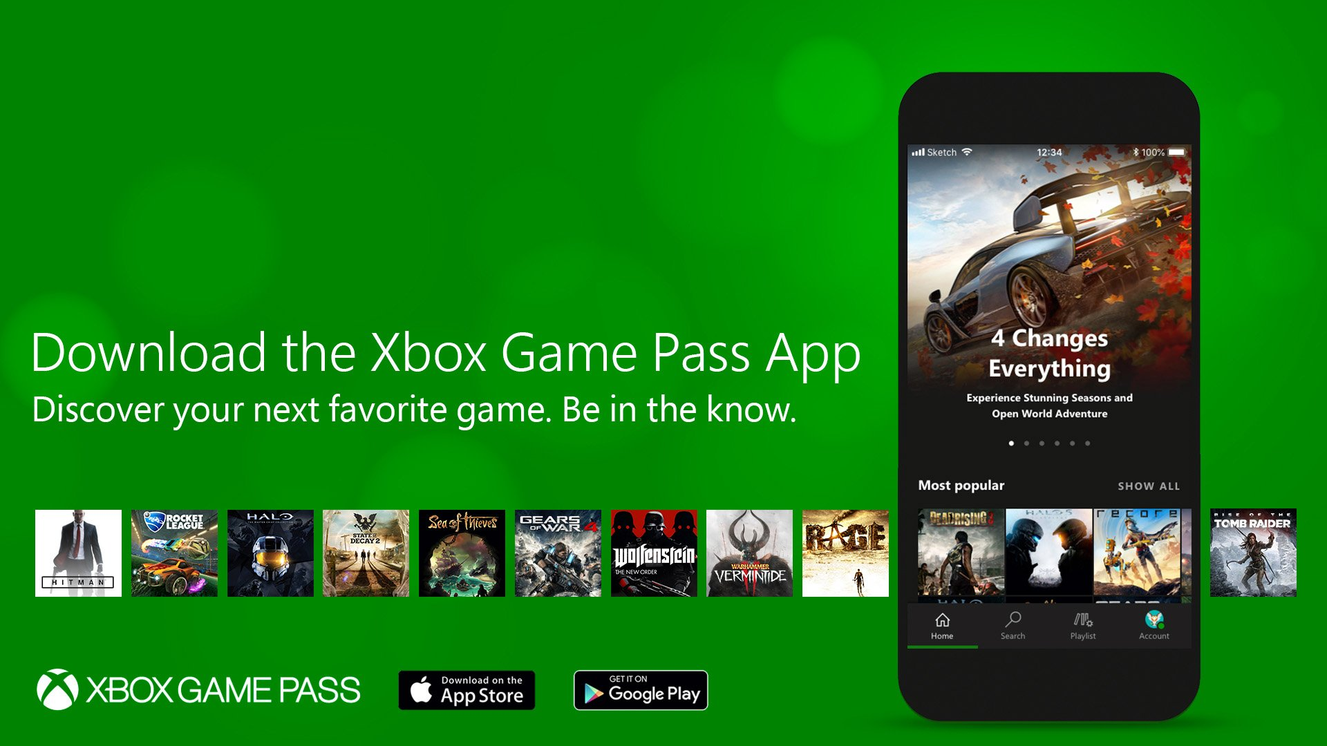 Xbox Game Pass App available on smartphones