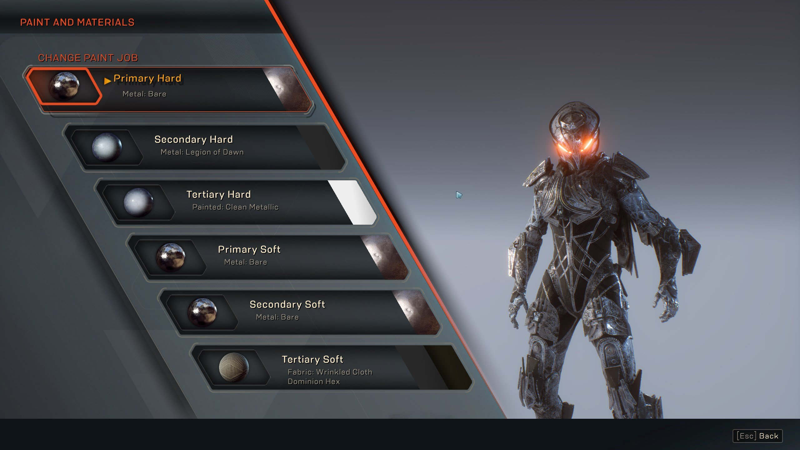 Anthem Javelin paint options