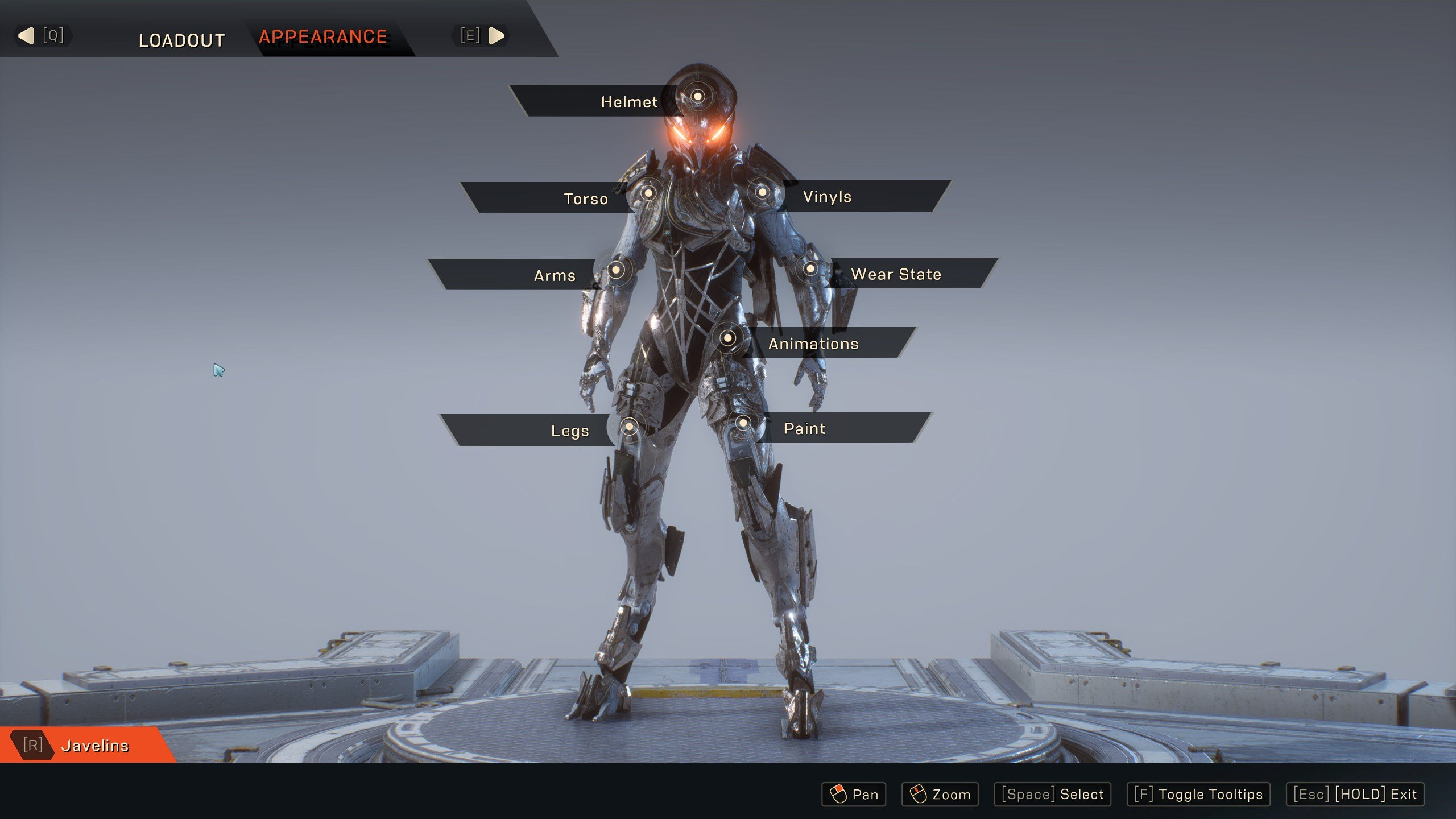 Anthem Javelin Customization Options