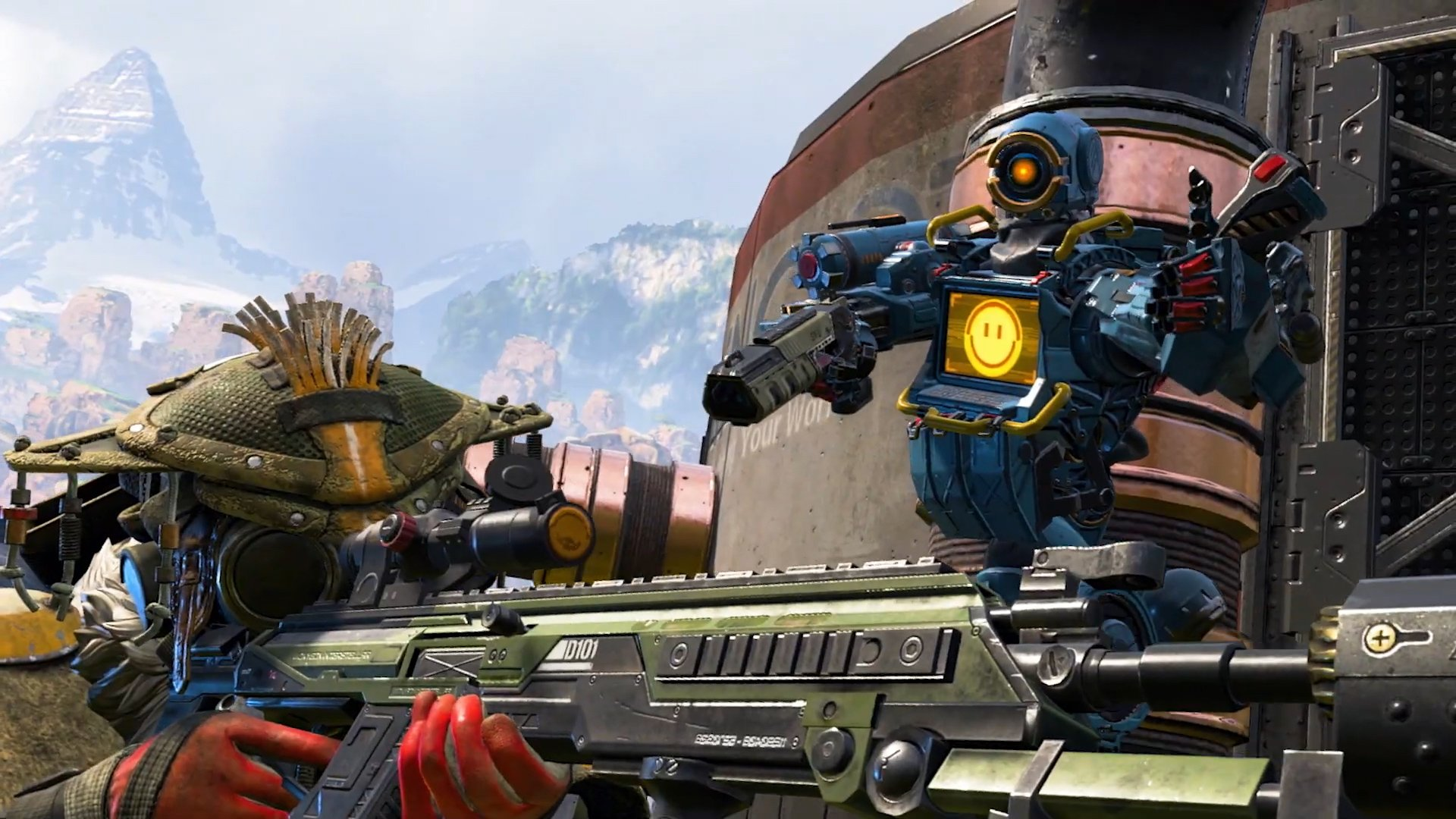 Apex Legends characters aiming for victory