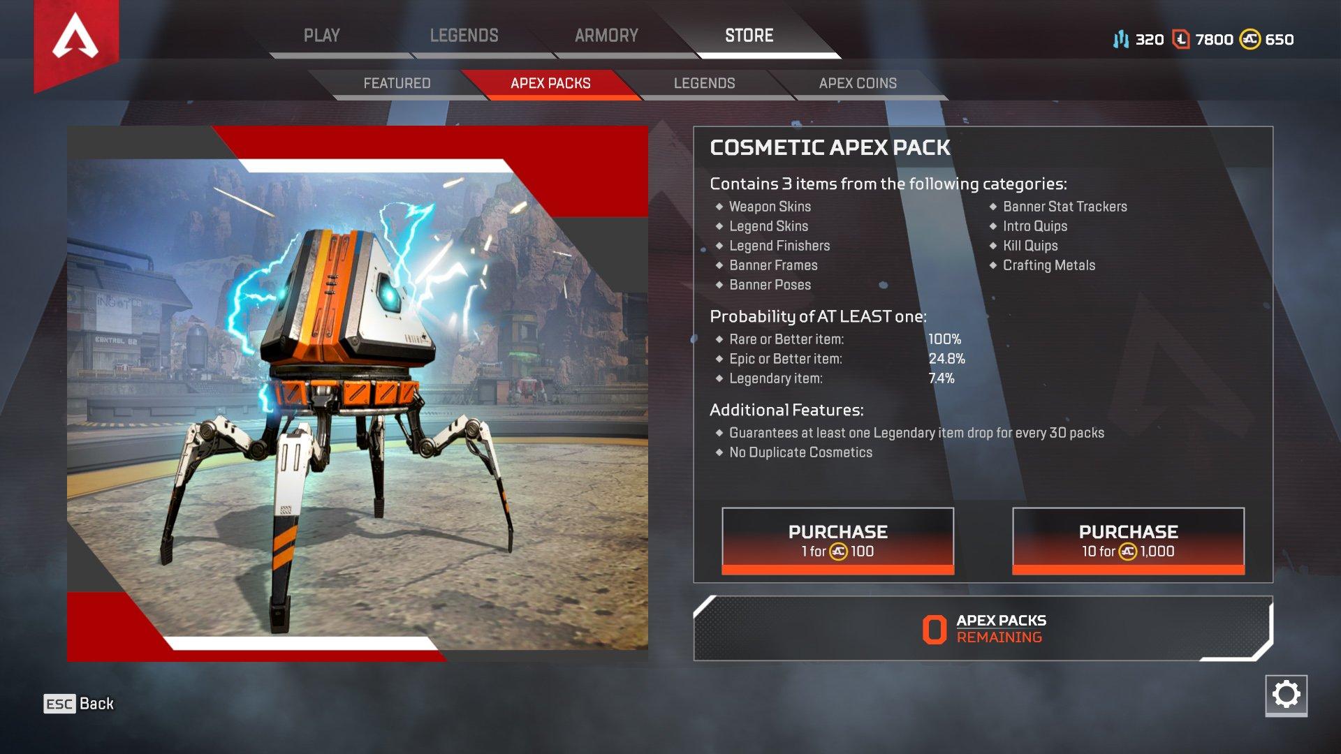 Apex Legends buy Apex Packs