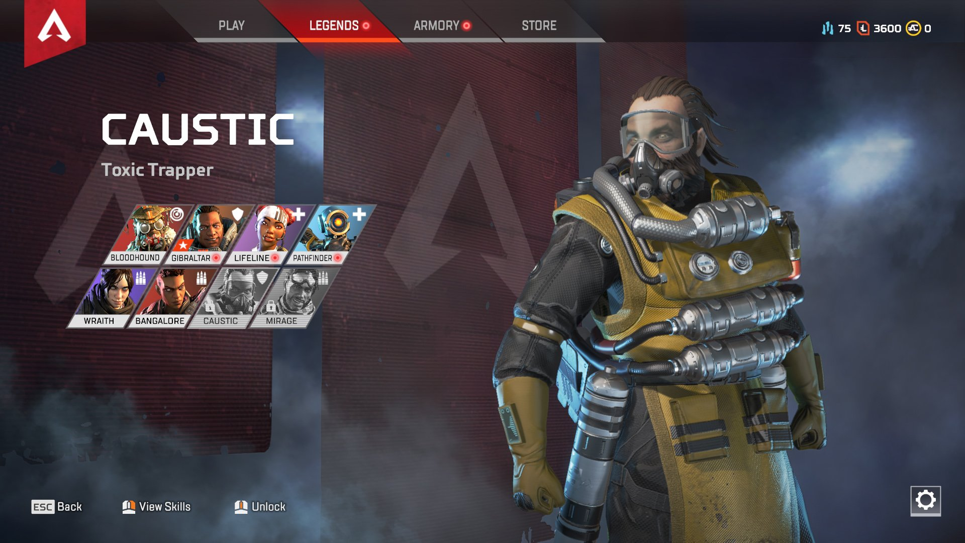 Apex Legends character abilities Caustic