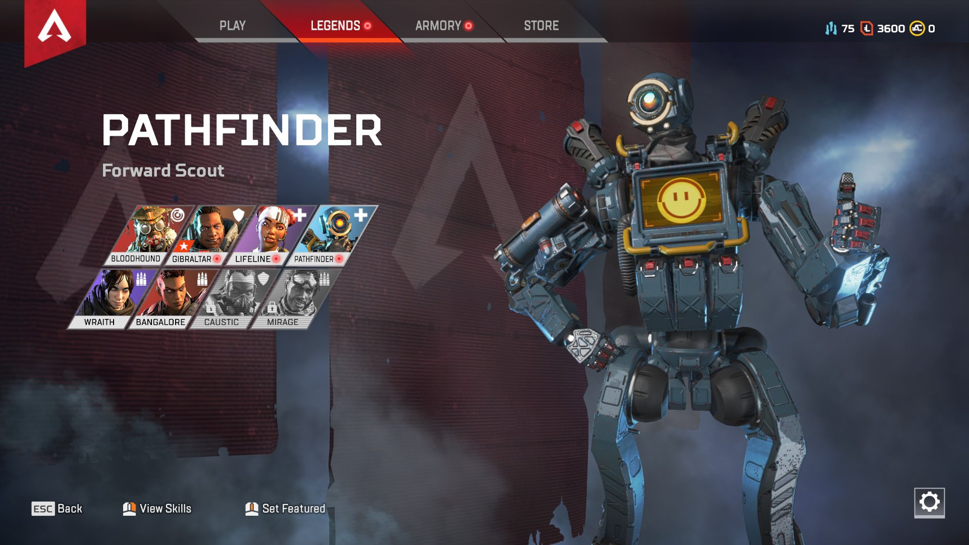 Apex Legends character abilities Pathfinder