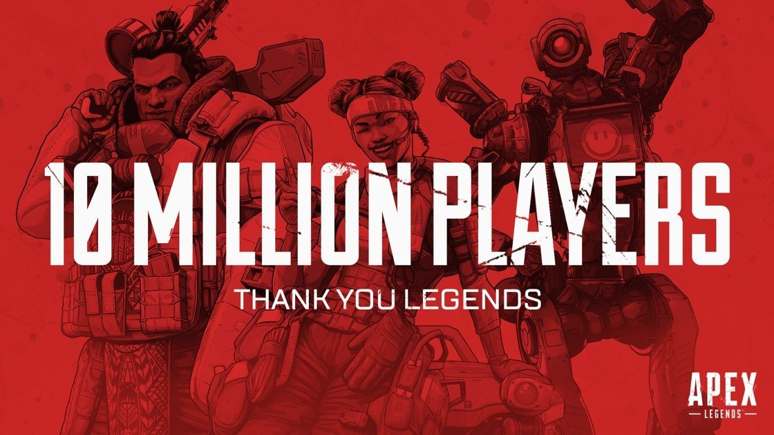 apex legends 10 million players less than a week f2p