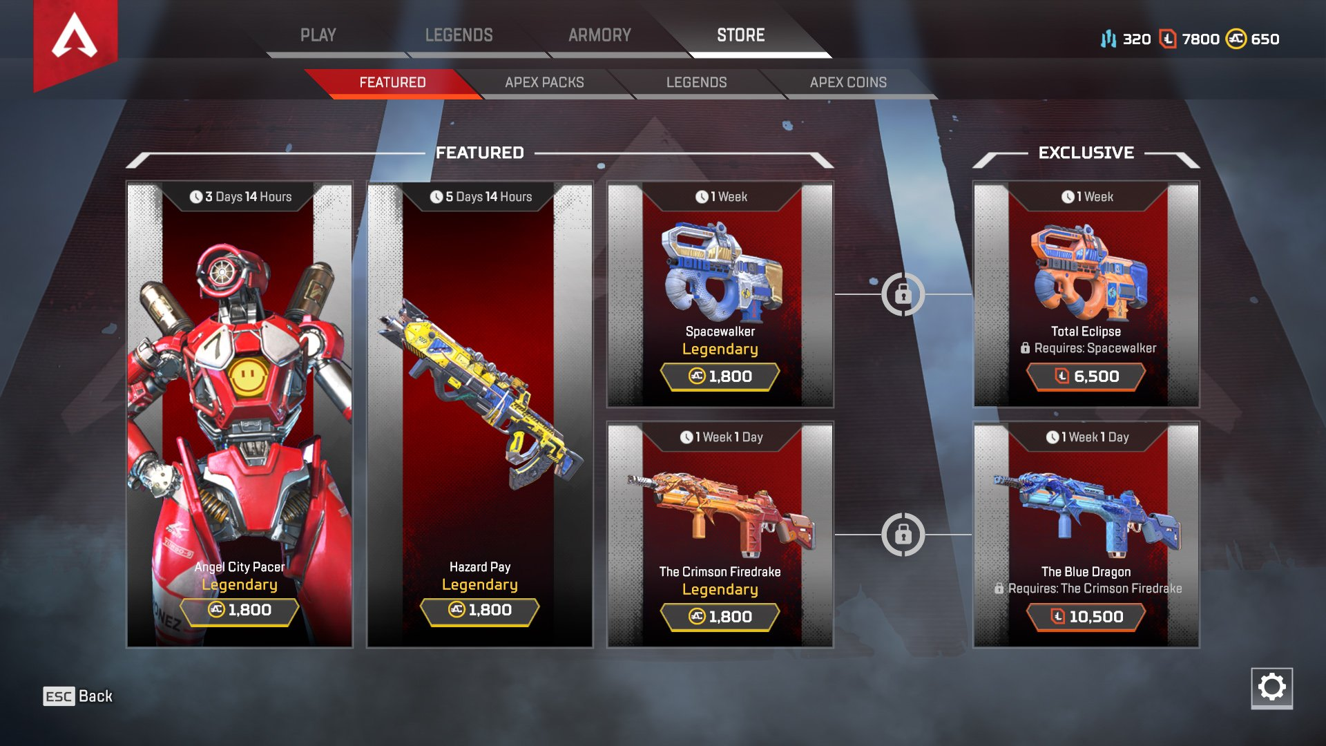 Apex Legends store Legend Tokens