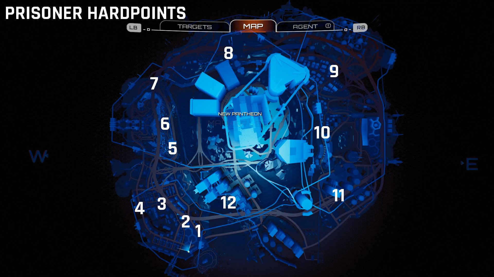 Crackdown 3 prisoner hardpoint locations map