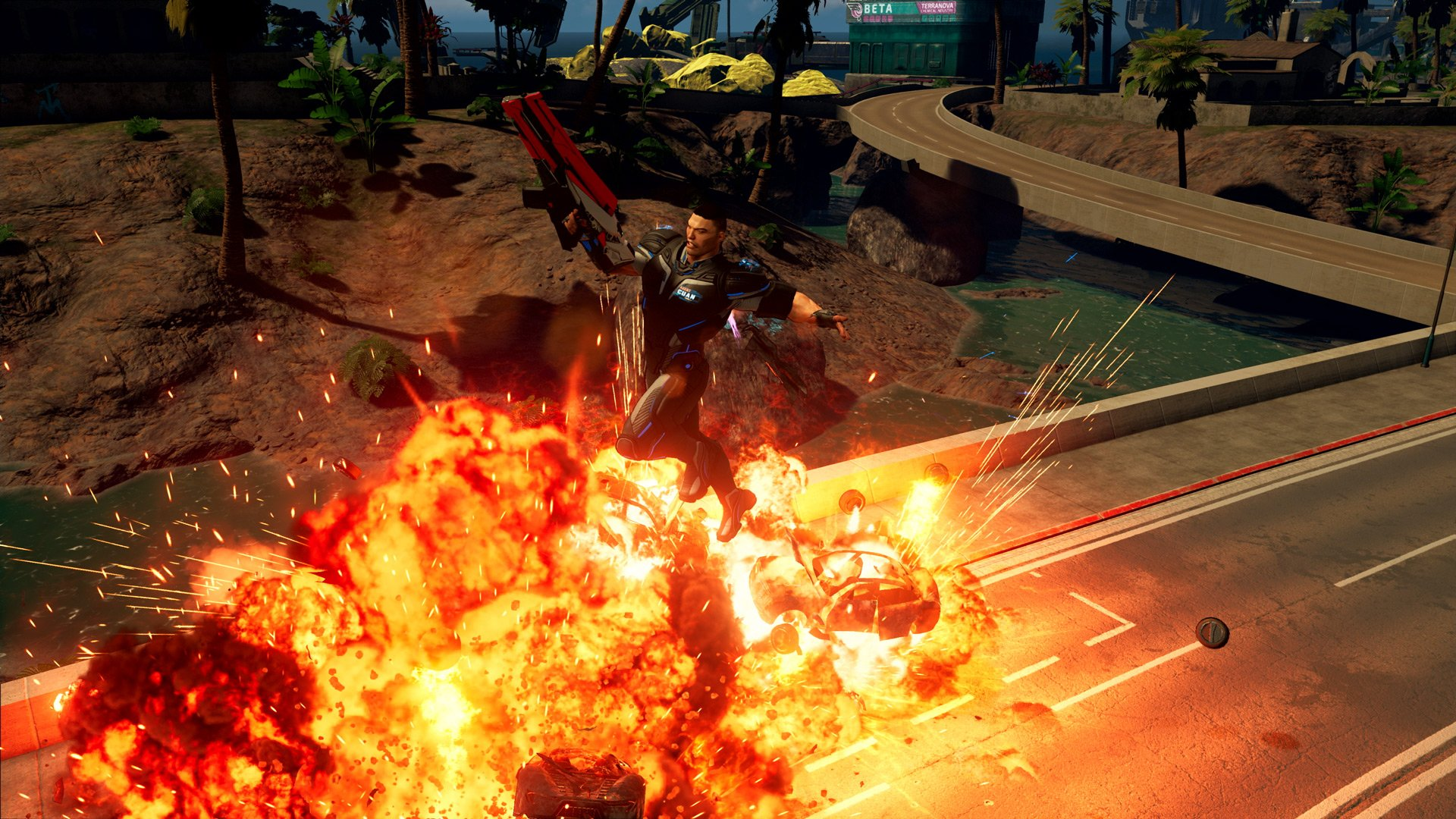 The explosive gunplay in Crackdown 3 offers lots of