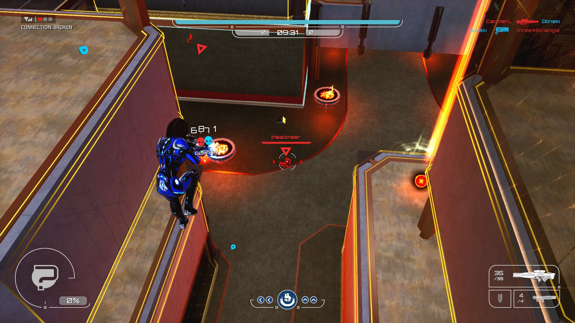 Dealing damage to another player isn't challenging, but securing the kill will take a while as they dash behind cover.
